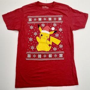 Pokemon Pikachu Santa Hat T-Shirt